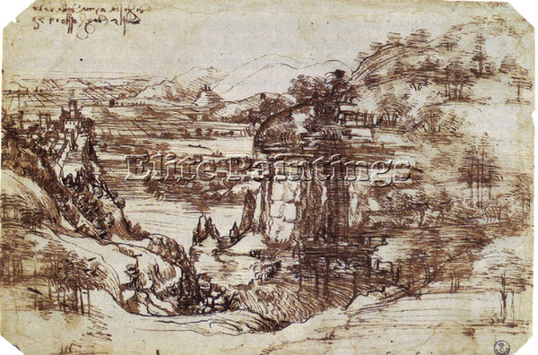 LEONARDO DA VINCI DESSIN TUSCAN ARTIST PAINTING REPRODUCTION HANDMADE OIL CANVAS