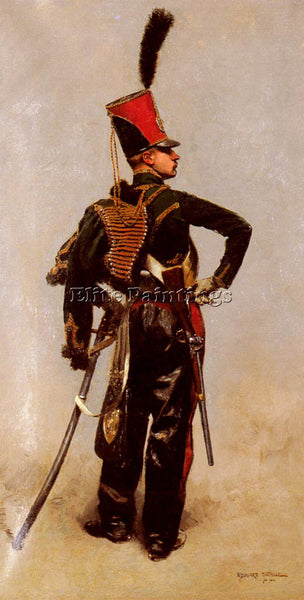 JEAN BAPTISTE EDOUARD DETAILLE A NAPOLEONIC OFFICER ARTIST PAINTING REPRODUCTION