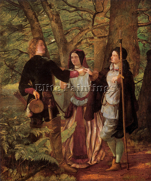 WALTER HOWELL DEVERELL  HOWARD A SCENE FROM AS YOU LIKE IT ARTIST PAINTING REPRO