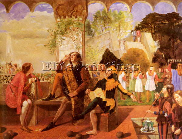 WALTER HOWELL DEVERELL  HOWELL TWELFTH NIGHT ACT II SCENE IV ARTIST PAINTING OIL