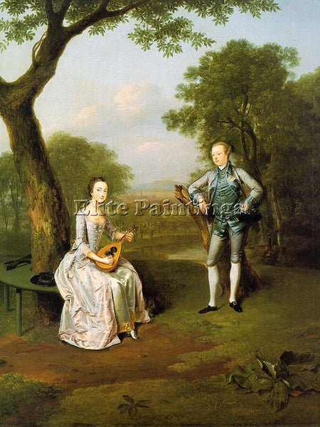 BRITISH DEVIS ARTHUR ENGLISH 1712 1787 ARTIST PAINTING REPRODUCTION HANDMADE OIL