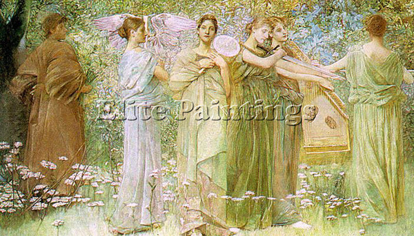 THOMAS WILMER DEWING THE DAYS 1886 ARTIST PAINTING REPRODUCTION HANDMADE OIL ART