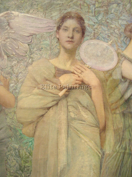 THOMAS WILMER DEWING THE DAYS DETAIL1 ARTIST PAINTING REPRODUCTION HANDMADE OIL