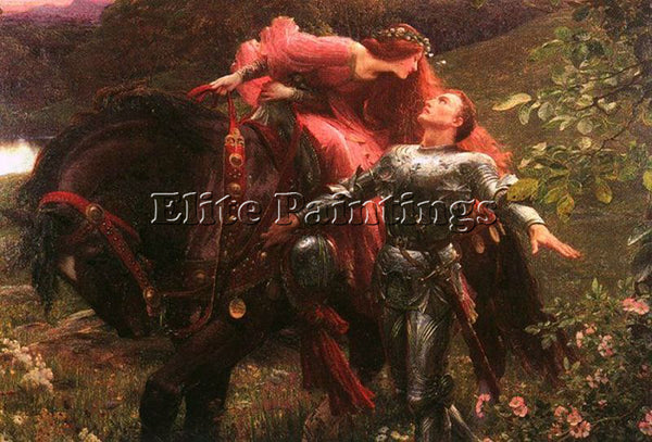 BRITISH DICKSEE SIR FRANK ENGLISH 1853 1928 ARTIST PAINTING HANDMADE OIL CANVAS