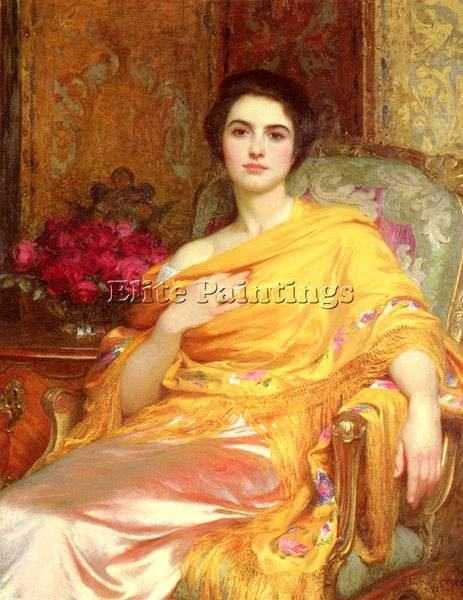 FRANK DICKSEE PORTRAIT OF ELSA ARTIST PAINTING REPRODUCTION HANDMADE OIL CANVAS