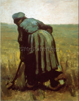 VAN GOGH DIGGING ARTIST PAINTING REPRODUCTION HANDMADE OIL CANVAS REPRO WALL ART