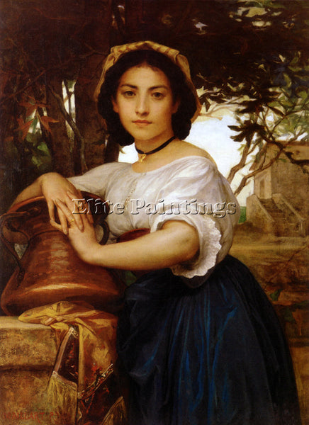 FRENCH DIOGENE ULYSSE NAPOLEON MAILLART YOUNGROMANWATERCARRIER LARGE OIL CANVAS