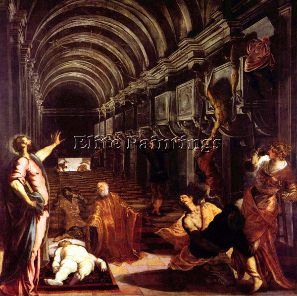 TINTORETTO DISCOVERY OF THE CORPSE OF ST MARK ARTIST PAINTING REPRODUCTION OIL