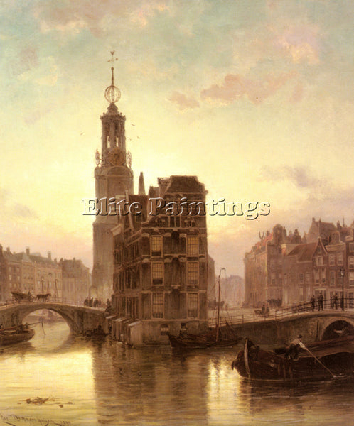 DOMMELSHUIZEN AMSTERDAM ARTIST PAINTING REPRODUCTION HANDMADE CANVAS REPRO WALL
