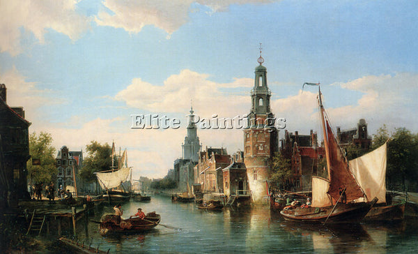 CORNELIS CHRISTIAAN DOMMELSHUIZEN THE MONTELBAANS TOWER AMSTERDAM ARTIST CANVAS