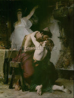 FRENCH DOUCET LUCIEN REUNION OF ODYSSEUS AND TELEMACHUS ARTIST PAINTING HANDMADE