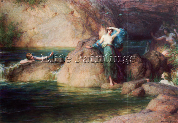 HERBERT JAMES DRAPER DRAPER HALCYONE ARTIST PAINTING REPRODUCTION HANDMADE OIL