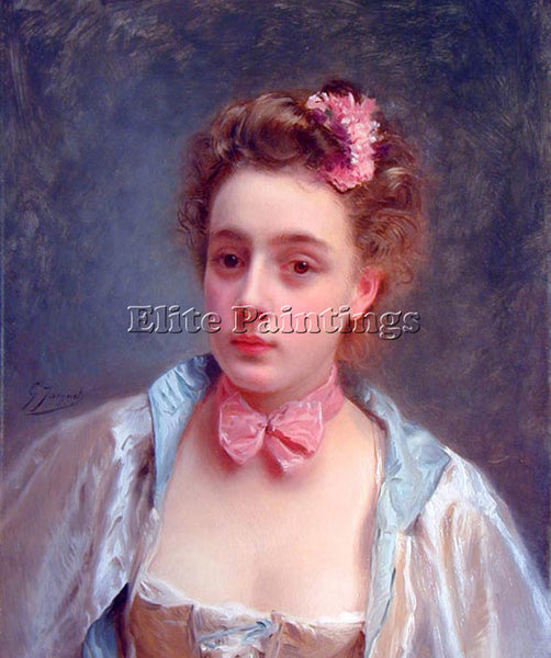 GUSTAVE JEAN JACQUET DRESSED FOR THE BALL ARTIST PAINTING REPRODUCTION HANDMADE
