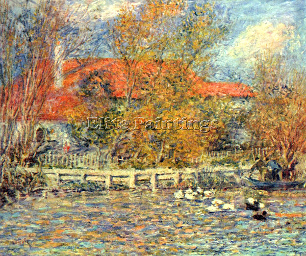 RENOIR DUCK POND ARTIST PAINTING REPRODUCTION HANDMADE OIL CANVAS REPRO WALL ART