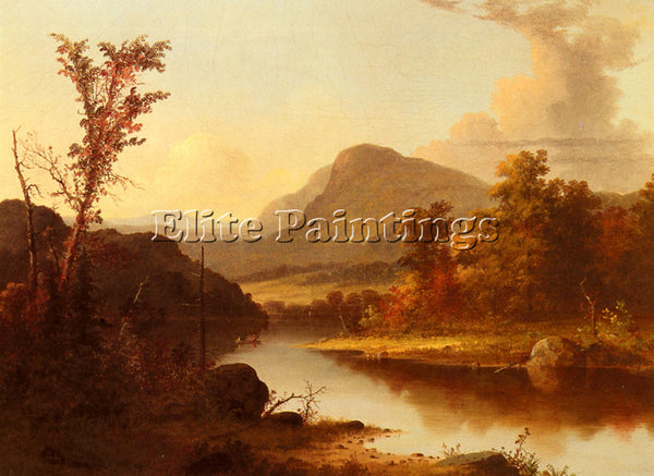 AMERICAN DURRIE GEORGE HENRY AUTUMN LANDSCAPE ARTIST PAINTING REPRODUCTION OIL