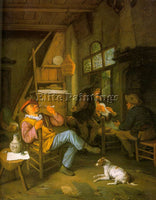 DUTCH DUSART CORNELIS DUTCH 1660 1704 ARTIST PAINTING REPRODUCTION HANDMADE OIL