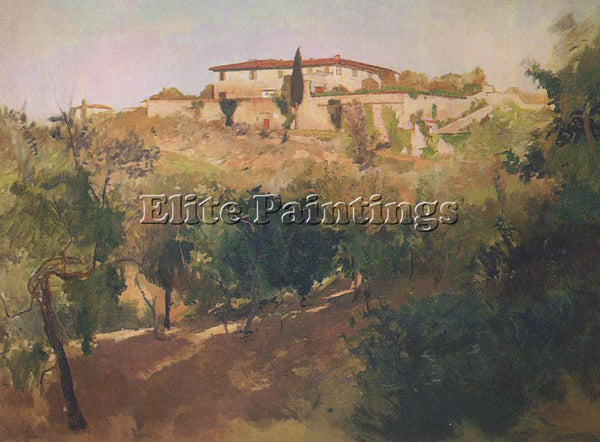 AMERICAN DUVENECK FRANK AMERICAN 1848 1919 2 ARTIST PAINTING HANDMADE OIL CANVAS - Oil Paintings Gallery Repro