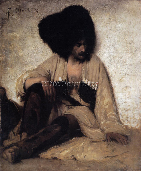 FRANK DUVENECK CAUCASIAN SOLDIER ARTIST PAINTING REPRODUCTION HANDMADE OIL REPRO