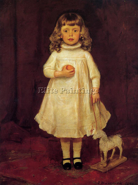 FRANK DUVENECK F B DUVENECK AS A CHILD ARTIST PAINTING REPRODUCTION HANDMADE OIL
