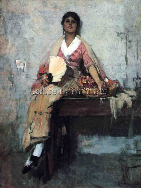 FRANK DUVENECK FLOWER GIRL ARTIST PAINTING REPRODUCTION HANDMADE OIL CANVAS DECO