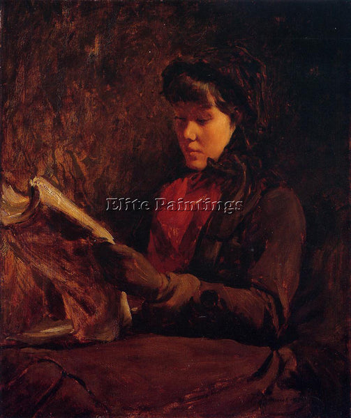 FRANK DUVENECK GIRL READING ARTIST PAINTING REPRODUCTION HANDMADE OIL CANVAS ART