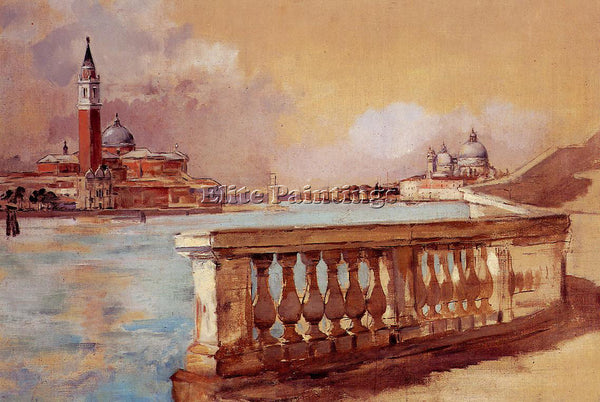 FRANK DUVENECK GRAND CANAL IN VENICE ARTIST PAINTING REPRODUCTION HANDMADE OIL