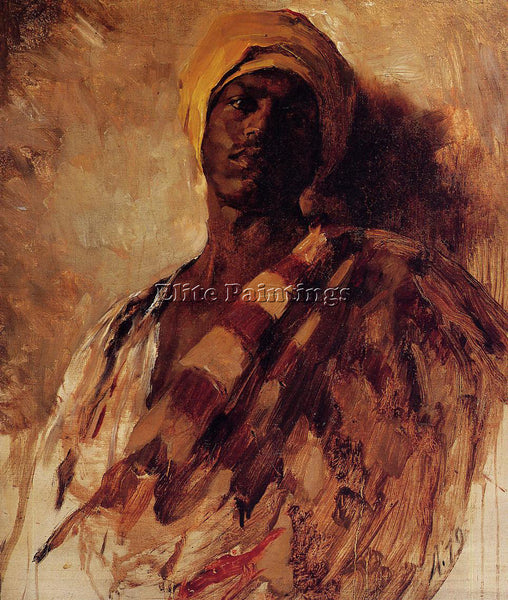 FRANK DUVENECK GUARD OF THE HAREM STUDY ARTIST PAINTING REPRODUCTION HANDMADE