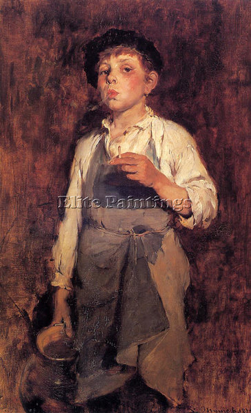 FRANK DUVENECK HE LIVES BY HIS WITS ARTIST PAINTING REPRODUCTION HANDMADE OIL