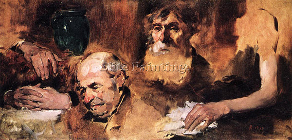 FRANK DUVENECK HEADS AND HANDS STUDY ARTIST PAINTING REPRODUCTION HANDMADE OIL