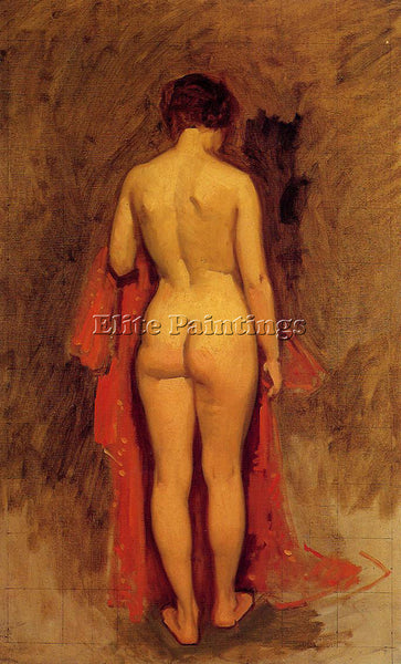 FRANK DUVENECK NUDE STANDING ARTIST PAINTING REPRODUCTION HANDMADE CANVAS REPRO