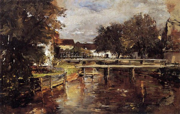 FRANK DUVENECK OLD TOWL BROOK POLLING BAVARIA ARTIST PAINTING REPRODUCTION OIL