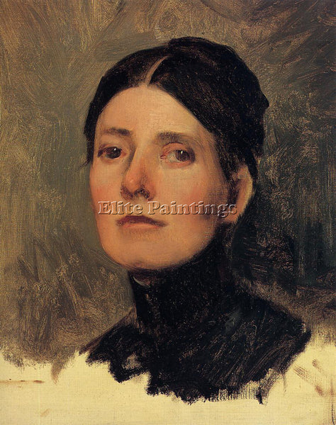 FRANK DUVENECK PORTRAIT OF ELIZABETH BOOTT ARTIST PAINTING REPRODUCTION HANDMADE