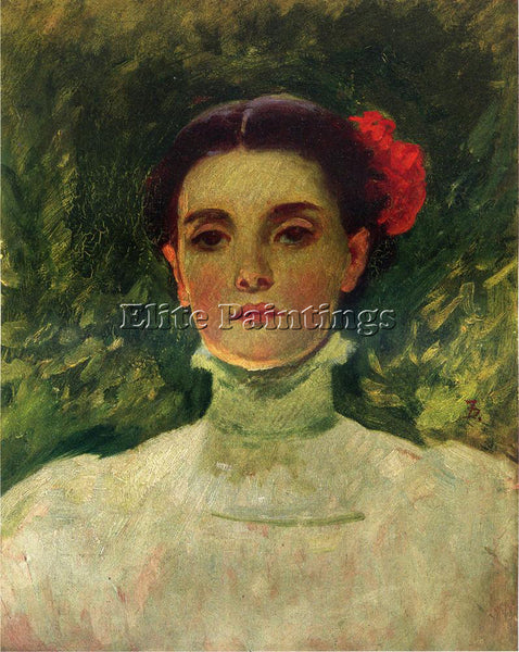 FRANK DUVENECK PORTRAIT OF MAGGIE WILSON ARTIST PAINTING REPRODUCTION HANDMADE