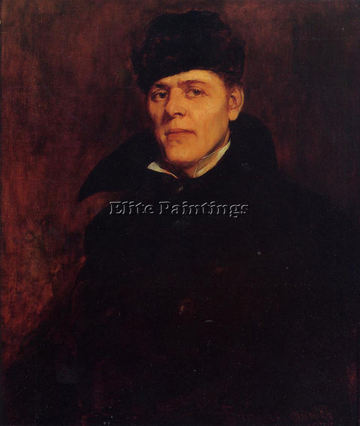 FRANK DUVENECK PORTRAIT OF MAJOR DILLARD H CLARK ARTIST PAINTING HANDMADE CANVAS