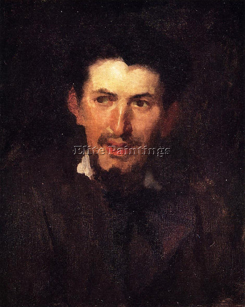 FRANK DUVENECK PORTRAIT OF A FELLOW ARTIST ARTIST PAINTING REPRODUCTION HANDMADE