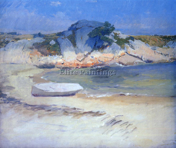 FRANK DUVENECK SHELTERED COVE ARTIST PAINTING REPRODUCTION HANDMADE CANVAS REPRO