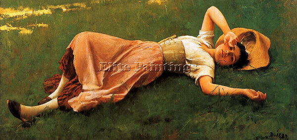 FRANK DUVENECK SIESTA2 ARTIST PAINTING REPRODUCTION HANDMADE CANVAS REPRO WALL