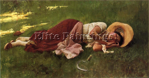 FRANK DUVENECK SIESTA ARTIST PAINTING REPRODUCTION HANDMADE OIL CANVAS REPRO ART