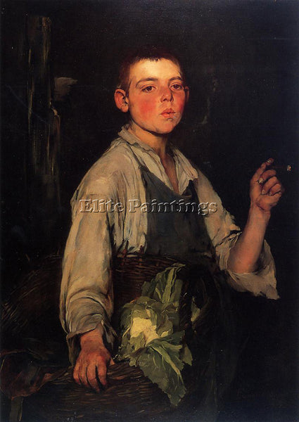 FRANK DUVENECK THE COBBLER S APPRENTICE ARTIST PAINTING REPRODUCTION HANDMADE