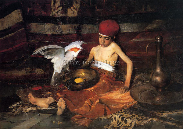 FRANK DUVENECK THE TURKISH PAGE ARTIST PAINTING REPRODUCTION HANDMADE OIL CANVAS