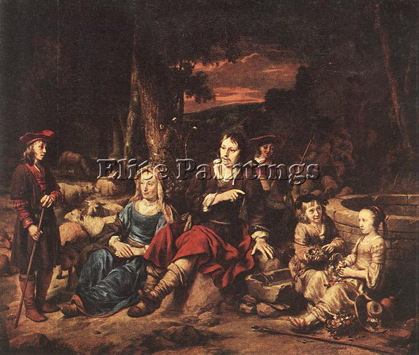 GERBRAND VAN DEN EECKHOUT PORTRAIT OF A FAMILY ARTIST PAINTING REPRODUCTION OIL