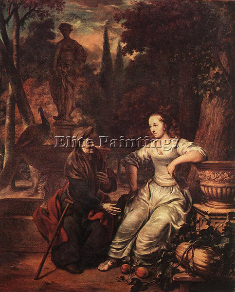GERBRAND VAN DEN EECKHOUT VERTUMNUS AND POMONA ARTIST PAINTING REPRODUCTION OIL