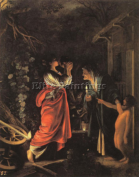 ADAM ELSHEIMER CERES AND STELLIO ARTIST PAINTING REPRODUCTION HANDMADE OIL REPRO
