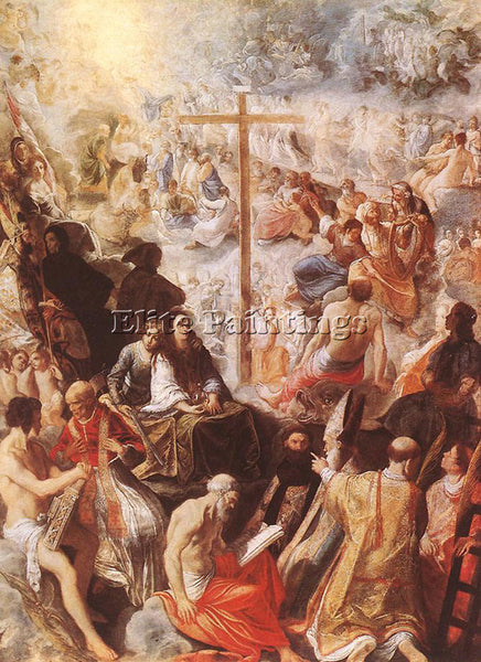 ADAM ELSHEIMER GLORIFICATION OF THE CROSS ARTIST PAINTING REPRODUCTION HANDMADE