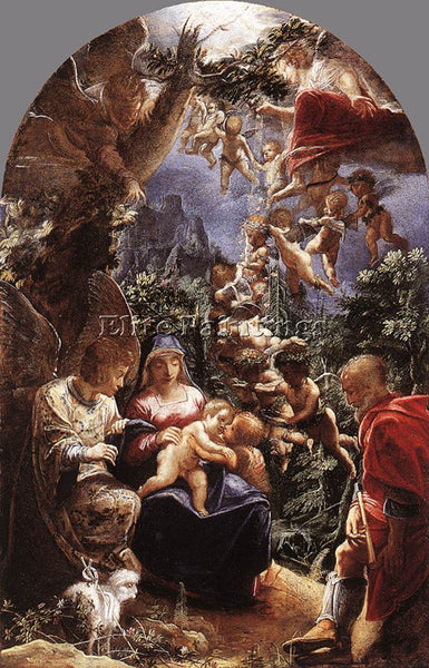 ADAM ELSHEIMER REST ON FLIGHT INTO EGYPT ARTIST PAINTING REPRODUCTION HANDMADE