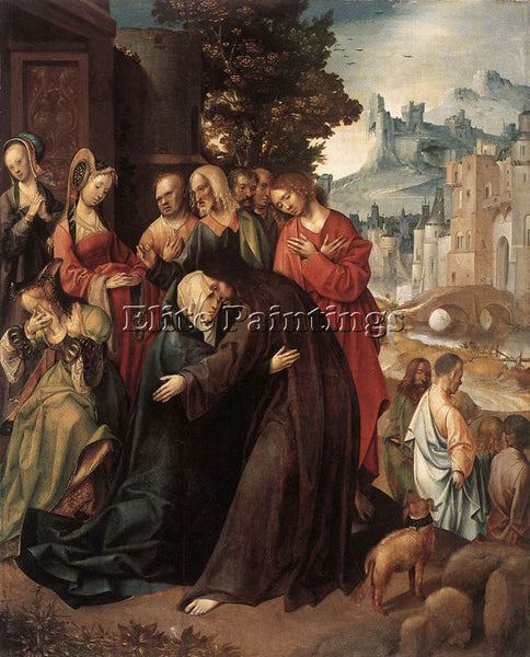 HOLLAND ENGELBRECHTSZ CORNELIS CHRIST TAKING LEAVE OF HIS MOTHER ARTIST PAINTING