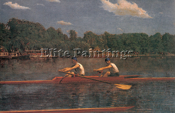 THOMAS EAKINS EAKINS THE BIGLIN BROTHERS RACING ARTIST PAINTING REPRODUCTION OIL