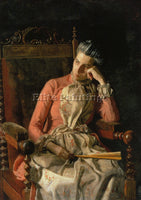 THOMAS EAKINS PORTRAIT OF AMELIA VAN BUREN ARTIST PAINTING REPRODUCTION HANDMADE