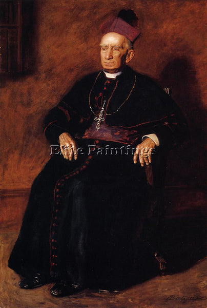 THOMAS EAKINS PORTRAIT OF ARCHBISHOP WILLIAM HENRY ELDER ARTIST PAINTING CANVAS