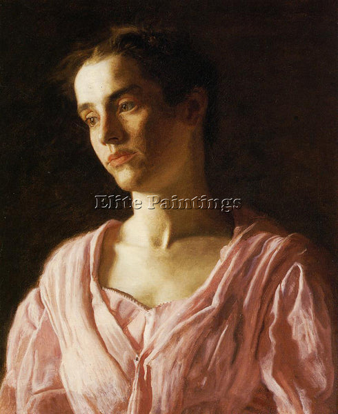 THOMAS EAKINS PORTRAIT OF MAUD COOK ARTIST PAINTING REPRODUCTION HANDMADE OIL